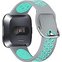 XIMU Compatibile con Fitbit Versa Cinturino/Versa 2 Cinturino/Versa Lite Cinturino, Regolabile Morbido Sportivo di…