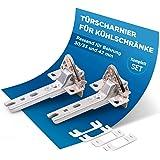 Dörrgångjärn set 2 st. gångjärn ersättning för Siemens Bosch 00268698 268698 Miele 2285121 passar för olika dörrar kylskåp/fr