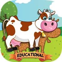 Tierpuzzle für Kleinkinder und Vorschulkinder - Version für Bildungseinrichtungen