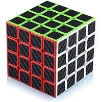 Cube de Vitesse Magique 4x4 4x4x4 Speed Cube Magic Cube Fibre de Carbone Autocollant Cadeau de Vacances pour Enfants…