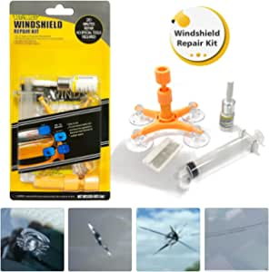 Manelord Auto Windshield Glass Repair Kit Windschutzscheibe Reparaturset Werkzeug Für Pkw Kleine Chips Bullauge Sternförmige Halbmond Auto