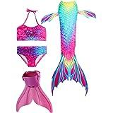 SPEEDEVE Cola de Sirena para Niñas con Aleta para Natación y Cosplay