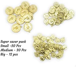 Satyam Kraft Metal DIY Coins for Jewelry Making,Craft Coins,Decoration,Craft Material