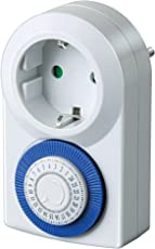 Brennenstuhl Zeitschaltuhr MMZ 20, mechanische Timer-Steckdose (Tages-Zeitschaltuhr, Kindersicherung) Farbe: weiß