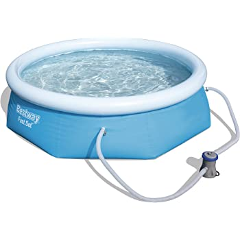 Bestway fast set swimming pool 3178 liters blue 9 ft x - How many litres in a swimming pool ...