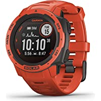 Garmin Instinct Solar Flame Red Smartwatch (No-Cost EMI Available)
