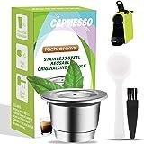 CAPMESSO Cápsula de café reutilizables, Cápsula rellenables para espresso, Cápsula de acero inoxidable compatibles con las má