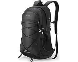 HOMIEE Hiking Backpack 45L, Labor Saving Breathable Lightweight Hiking Rucksack, Multi-functional Hang System Trekking Rucksa