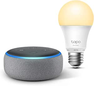 Echo Dot 3 Generation Hellgrau Stoff Tp Link Tapo Smart Lampe E27 Funktionert Mit Alexa Alle Produkte