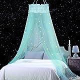 M/ädchen oder Erwachsene leuchtet im Dunkeln f/ür Baby M/ädchenbett Betthimmel mit fluoreszierenden Sternen Kinder Kinderbett Anti-Moskitonetz als Moskitonetz zum Abdecken von Babybett