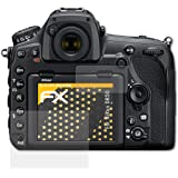 atFoliX Panzerfolie kompatibel mit Nikon D850 Schutzfolie, entspiegelnde und stoßdämpfende FX Folie (3er Set)