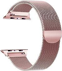 iBander Apple Watch iWatch cinghie per serie 3/2/1in acciaio INOX milanese loop metal accessori di ricambio bracciale da polso con chiusura a calamita unico grande piccolo argento nero oro oro rosa