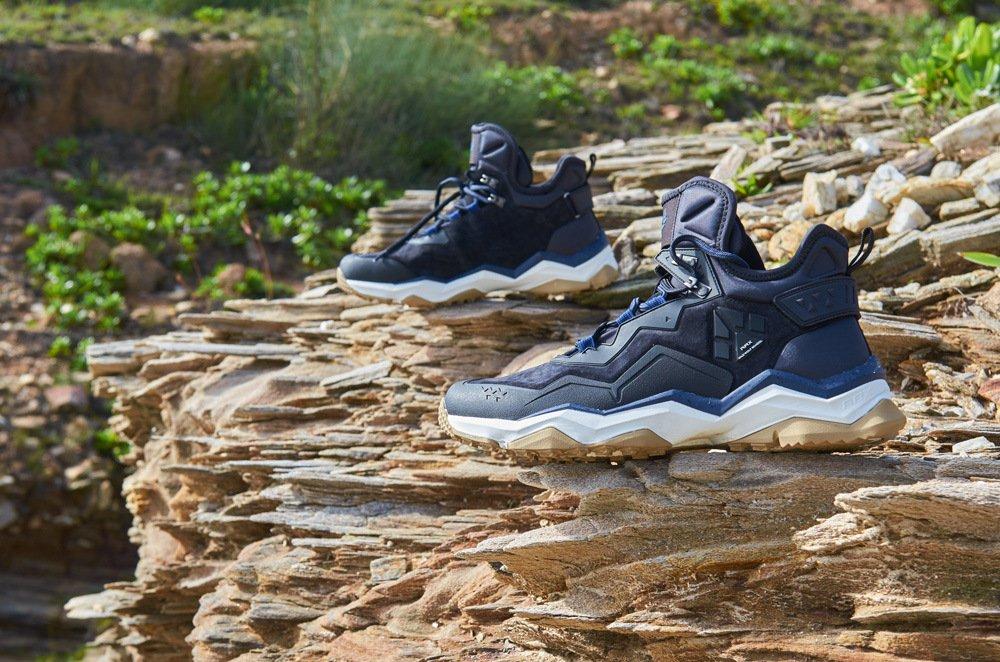 RAX Men's High Rise Hiking Boots Leather Waterproof Multifunctional Trekking Mountain Shoes
