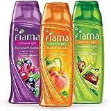 Fiama Shower gel Blackcurrant & Bearberry 250ml, Fiama Shower Gel Peach & Avocado 250ml, Fiama Shower Gel Lemongrass & Jojoba