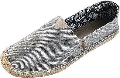 Alexis Leroy Women's Flat Espadrilles Canvas Shoes Slip on Espadrilles
