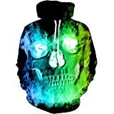 TUONROAD Felpe con Cappuccio Uomo 3D Stampato Hoodie Unisex Pullover Sweatshirt con Tasche Coulisse Felpe Uomo M-XXL