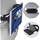 Car Headrest Mount, NEARPOW 360°Rotation Velcro Tablet Holder for Car Back Seat, Angle Adjustable and Universal Vehicle, Stan