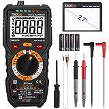 Digital Multimeter, Tacklife DM01M Advanced Multimeter mit 6000 Counts, True RMS, Temperaturmessung, Außenleiter…