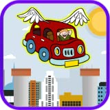 Flying Red Car