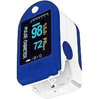 Ossimetro Pulsossimetro da Dito Sensore Digitale di Ossigeno Nel Sangue e Pulsazioni con Allarme SPO2 Uso Domestico Pile…