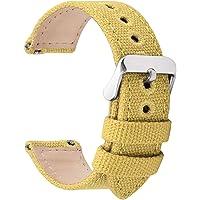 Fullmosa 8 Colori per Cinturino Orologio a Sgancio Rapido, Tela Militare Cinturino per Orologio 24mm,22mm,20mm,18mm,16mm…