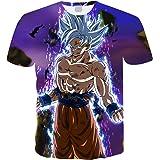 Camiseta Dragon Ball Niño 3D Impresión Hombres Mujer Camisetas y Camisas Unisex Deportivas Camisetas de Manga Corta Dibujos A