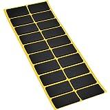 20 x anti-slip pads van EPDM/celrubber | rechthoekig | 20x40 mm | zwart | zelfklevend | anti-slip pads van topkwaliteit (2,5