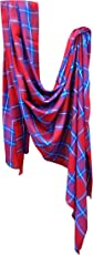 Baal Casual Check Printed Soft Pashmina Stole Scarf Stoles For Girls Stylish In Winter, 15 Grams, Pack Of 1