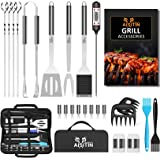 AISITIN BBQ Tools Set 25pcs BBQ Accessories Stainless Steel, Outdoor Party Professional Barbecue Grill Tools Kit for Men and