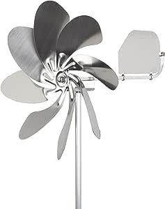 steel4you A1005 Windrad Windmühle Speedy28 Plus aus Edelstahl (28cm Rotor-Durchmesser), kugelgelagert, mit Windfahne (360° Grad drehbar) - Made in Germany
