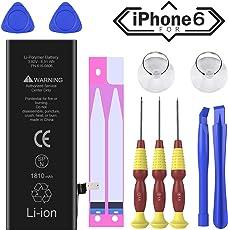 Ossky iPhone 6 akku 1810mAh Lithium lonen Battery, Ersatzakku für iPhone 6 Batteriemit Werkzeugset und Reparaturset Anleitung zur schnellern und einfachen Reparatur