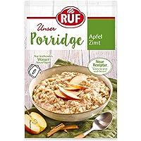 RUF Porridge Apfel Zimt mit Vollkorn-Haferflocken und Apfelstückchen, 1 x 65 g