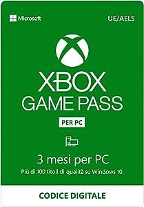Abbonamento Xbox Game Pass per PC   3 Mesi   Windows 10 - Download Code