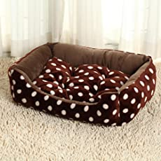 BiuTeFang Hundebett Katzenbett Baumwolle Pet Bett Tuch Zwinger Waschbar Hund Bett Kissen Haustier Kissen Katze Nest