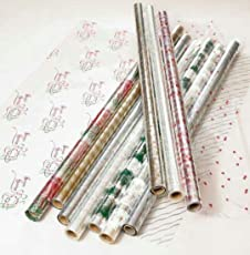 TOTAL HOME : Multi colors Cellophane For Flower Wrapping Packaging Gifts Bouquets Hampers Wedding (20INCH X 5 FEET)
