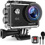Campark 4K 20MP Action Cam con EIS Telecomando Microfono Esterno WiFi Videocamera Subacquea 40M 2 Batterie e Kit Accessori Co