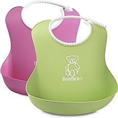 BabyBjörn 046201 Weiches Lätzchen, 2-Pack