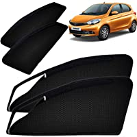 Autofact Magnetic Window Sunshades/Curtains for Tata Tiago [Set of 4pc - Front 2pc with Zipper ; Rear 2pc Without Zipper…