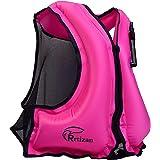 Rrtizan Unisex Adulto Portable Gilet Gonfiabile boccaglio per Immersioni in Tutta Sicurezza, Adatto per 30-120KG