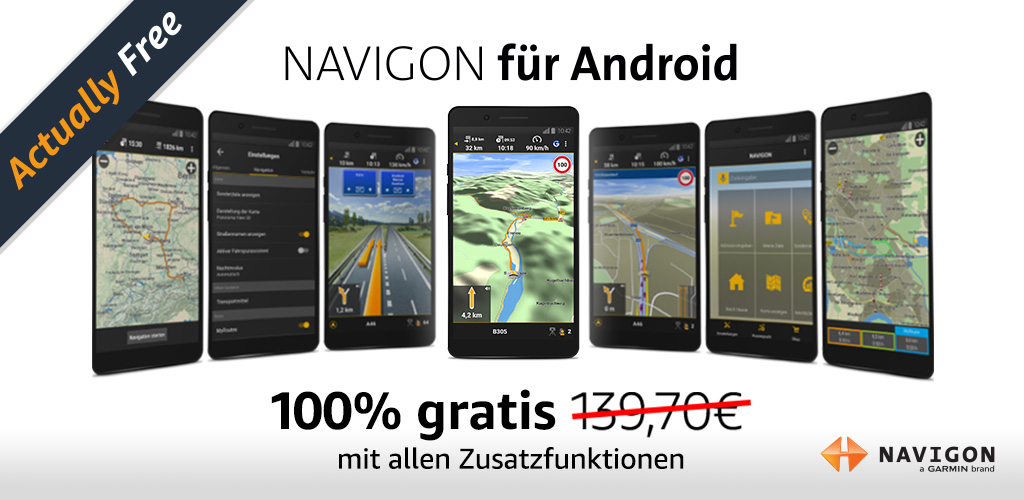 NAVIGON Europe Screenshot