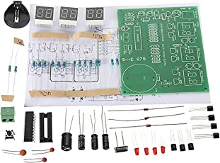 Non-Brand DIY PCB Circuit Board Digital LED Electronic Clock Alarm Kits Set 6 Digit