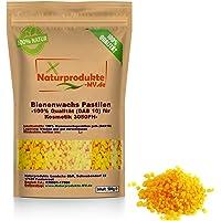 100% Bienenwachspastillen gelb für Kosmetik (500 g) Bienenwachs Pastillen