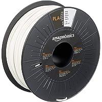 AmazonBasics - Filamento per stampanti 3D, in polilattato (PLA), 2,85mm, bianco, 1 kg per bobina