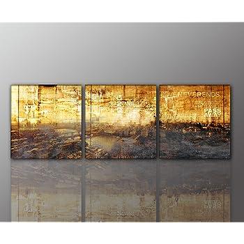 Abstraktes wandbild beige r tlich 3x40x90cm - Wandbild altrosa ...