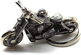Kolossalz Grey Royal Enfield Design Keyring & Keychain
