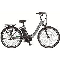 28 Zoll Elektro Fahrrad Damen City E Bike PROPHETE 36V 11Ah Pedelec Mittelmotor Rücktritt Samsung Silber matt RH 49cm