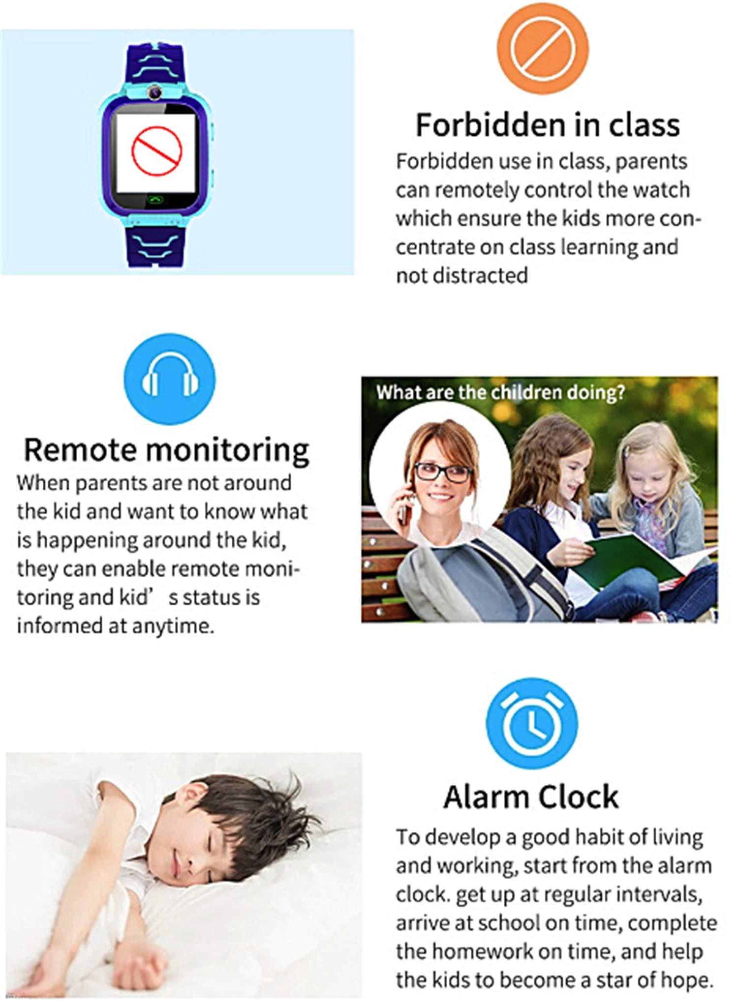 linyingdian Smartwatch Niños, Reloj Inteligente Niños con 1.44 Pantalla táctil Completa, LBS localizador Linterna, Llamada, SOS, Cámara, Juegos y Despertador, Regalo para Niño Niña de 3-12 años 4