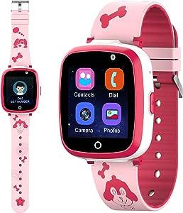 Etpark Smartwatch per Bambini, Kids Smart Watch Orologio Intelligente per Bambini che Supporta Telefoni, Giochi e Lettori Musicali Regali di Compleanno per Bambini Regali di Natale, Rosa
