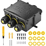 Kohree Boîte de dérivation IP68 Extérieur, Boîte Jonction Etanche, Connecteur de câble étanche, Boîte de serrage en carbone p