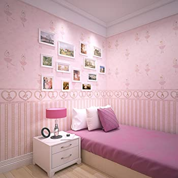 Vliestapete/Kinderzimmer Tapete/Prinzessin Zimmer Tapeten Mädchen/Rosa  Hintergrund Schöne Karikatur/Schlafzimmer Tapeten A